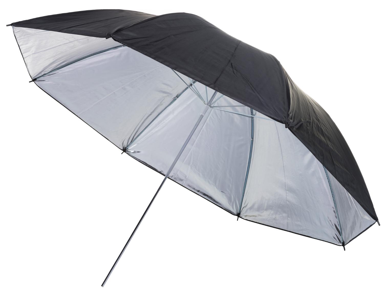 Bresser br bs ombrello riflettente nero argento cm ebay